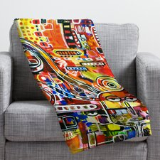 Robin Faye Gates It Came from Detroit Throw Blanket