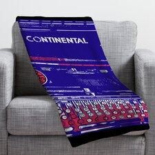 Romi Vega Continental Typewriter Throw Blanket