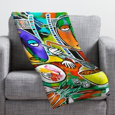 Robin Faye Gates I Should Give Relish A Try Throw Blanket