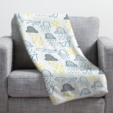 Jennifer Denty Clouds Throw Blanket