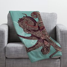 Valentina Ramos Octopus Bloom Throw Blanket
