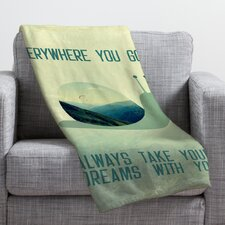 Belle13 Always Take Your Dreams With You Throw Blanket