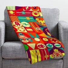 Chobopop Elecro Circus Throw Blanket