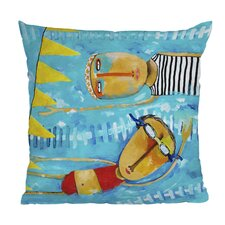 Robin Faye Gates Swimming Is Hard Throw Pillow