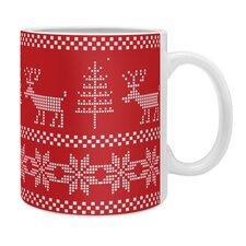 Natt Christmas Knitting Deer Coffee Mug