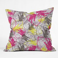 Rachael Taylor Organic Retro Leaves Polyester Throw Pillow