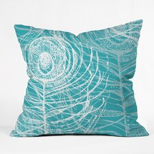 Rachael Taylor Layered Peacock Feathers Polyester Throw Pillow