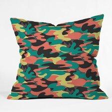 Zoe Wodarz Paintball Camo Polyester Throw Pillow