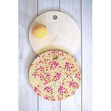 Joy Laforme Azalea In Pink Round Cutting Board