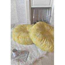 Joy Laforme Lotus Decorative Round  Floor Pillow