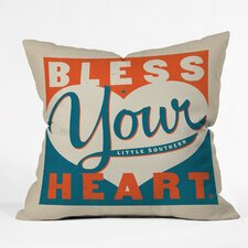 Anderson Design Group Bless Your Heart Throw Pillow