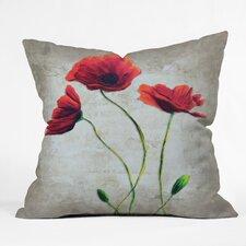 Madart Inc. Vibrant Poppies I Throw Pillow