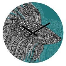 "12"" Valentina Ramos Beta Fish Round Clock"