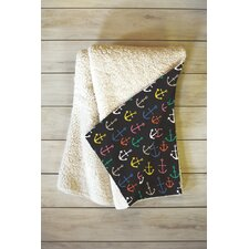 Zoe Wodarz Anchored 2 U Fleece Throw Blanket