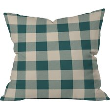 Zoe Wodarz Cozy Woods Plaid Indoor/Outdoor Throw Pillow