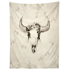 Romantic Boho Buffalo III by Kangarui Tapestry