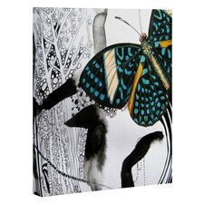 Ink Black Butterfly by Deb Haugen Graphic Art on Canvas
