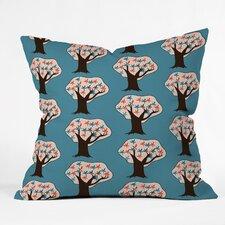 Mummysam Vintage Trees Throw Pillow