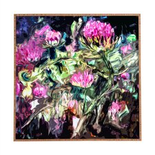 Purple Thistles by Ginette Framed Wall Art
