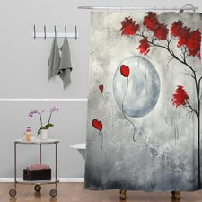 Madart Inc Far Side Of The Moon Shower Curtain