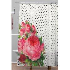 Allyson Johnson Floral Polka Dot Shower Curtain