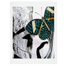 Ink Black Butterfly by Deb Haugen Graphic Art