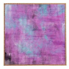 'Purple Paint' by Allyson Johnson Framed Graphic Art
