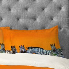 Clara Nilles Candy Stripe Zebras Pillowcase