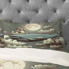 Terry Fan Ocean Meets Sky Pillowcase