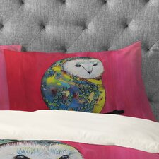 Clara Nilles Owl on Lipstick Pillowcase