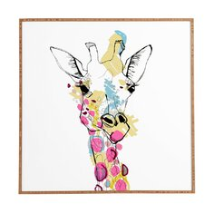 'Giraffe Color' by Casey Rogers Framed Painting Print