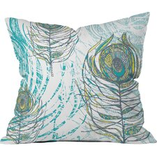 Rachael Taylor Peacock Feathers Polyester Throw Pillow