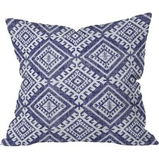 Holli Zollinger Shakami Denim Outdoor Throw Pillow