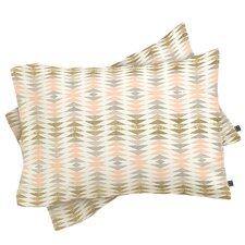 Georgiana Paraschiv Metallic Triangles Pillowcase (Set of 2)