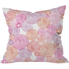 Camilla Foss Circles in Colors I Throw Pillow