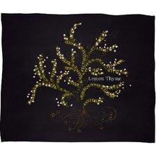 Joy Laforme Herb Garden Lemon Thyme Throw Blanket