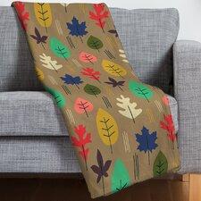 Zoe Wodarz Leaf It All Behind Throw Blanket