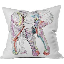 Casey Rogers Elephant Throw Pillow