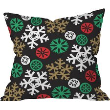 Zoe Wodarz Cozy Cabin Snowflakes Throw Pillow