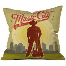 Anderson Design Group Music City Throw Pillow