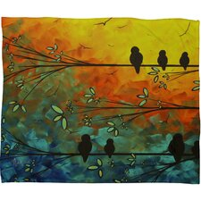 Madart Inc. Birds Of A Feather Throw Blanket