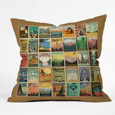Anderson Design Group City Pattern Border Indoor/Outdoor Throw Pillow
