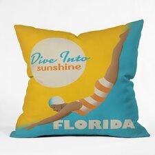 Anderson Design Group Dive Florida Throw Pillow