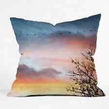 Bird Wanna Whistle Bird Line Throw Pillow