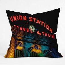 Bird Wanna Whistle Union Station Throw Pillow