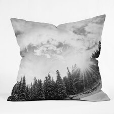 Bird Wanna Whistle Mountain Throw Pillow
