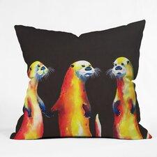 Clara Nilles Flaming Otters Throw Pillow