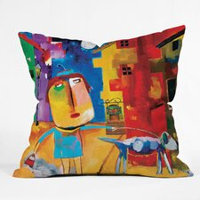 Robin Faye Gates Sylvia Needs Eggs Throw Pillow