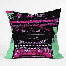 Romi Vega Typewriter Indoor/Outdoor Throw Pillow