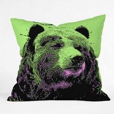 Romi Vega Bear Indoor/Outdoor Throw Pillow